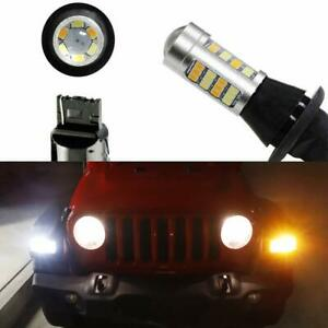 Switchback Led Bulbs For 18 up Jeep Wrangler Jl Turn Signal Light Drl Conversion