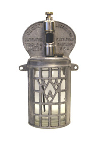 Vintage Oilrite Lubricator Art Deco Style Aluminum With Glass Jar Container