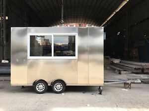 New 3 5m Stainless Steel Concession Stand Trailer Kitchen Air Conditioner By Sea