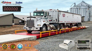 Optima Op 100 Truck Scale 120 x11 With 200 000 Lb Capacity Ntep With Rub Rails