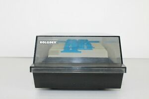 Rolodex Corporation Rotary Business Card File Box Vip 24c See Thru Box Cover