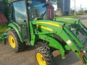 John Deere 3520 Compact Tractor With Deluxe Cab And Loader With Rear Hydraulics