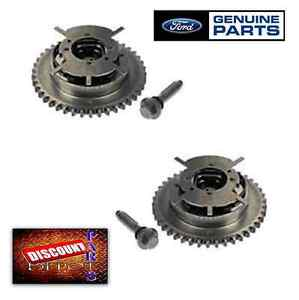 Set 2 Genuine Ford 5 4l 3v Camshaft Phaser Sprocket V8 F150 Explorer Gear Timing