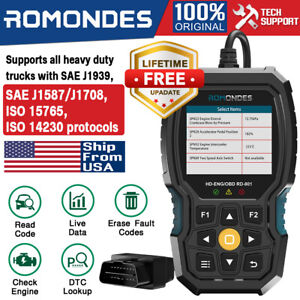 Heavy Duty Diesel Truck Car Diagnostic Scanner Tool Obdii Code Reader Dpf Regen