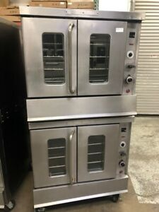 Double Stack Gas Convection Oven Montague 115 Commercial Bakery Depth 2068