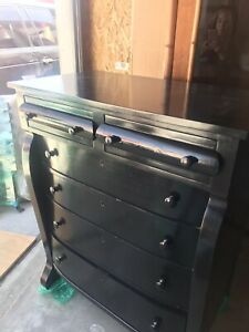Antique Federal Empire Dresser Chest Of Drawers 1800 S Ebonized Ralph Lauren