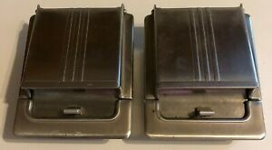 2 Vintage Chrome Car Ashtrays Extracted