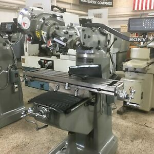 Sharp Lmv 42 Variable Speed Vertical Mill Milling Machine 9x42 W Sony Dro