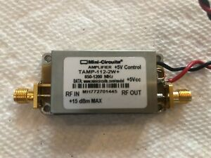 Mini circuits Tamp 112 2w Low Noise Amplifier 6500 1200 Mhz Sma Conn
