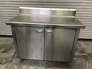48 X 24 All Stainless Steel Cabinet Prep Station Cart Table Eagle Nsf 1942