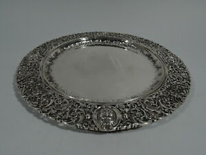 Howard Charger Antique Dinner Plate Tray American Sterling Silver