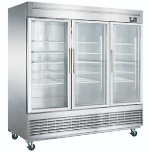New 3 Glass Door 83 Refrigerator Display Cooler 115v Nsf Dukers D83r gs3 2035