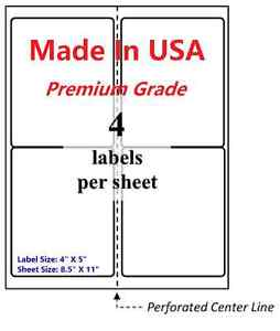 2000 Premium Shipping Labels 4 x5 made In Usa self Adhesive blank Labels 8 5x11