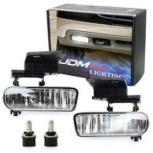 Clear Lens White Led Foglights W Bracket For Chevy 1500 2500 3500 Suburban Tahoe