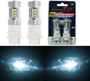 Led Light 80w 3156 White 6000k Two Bulbs Back Up Reverse Replacement Lamp Oe Fit