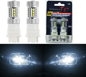 Led Light 80w 3156 White 5000k Two Bulbs Back Up Reverse Replace Upgrade Lamp Oe