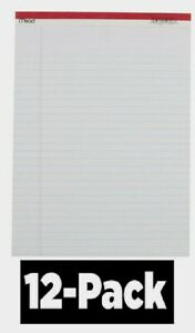 12 Pack Mead Legal Pad 8 5 x11 75 White Note Paper 50 Sheets Perforated Office