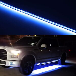 40 63 smd Flexible Blue Led Running Board side Step Lighting Kit For Truck Etc