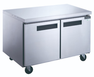 New 2 Door Under Counter Refrigerator Cooler Stainless Nsf 48 Dukers Duc48r 2037