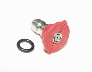 Pressure Washer Quick Connect Tip Nozzle Size 4 Gpm Red 0 Degree Spray Angle