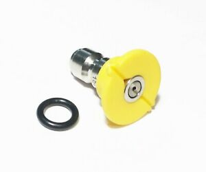 Pressure Washer Quick Connect Tip Nozzle Size 6 Gpm Yellow 15 Degree Spray Angle