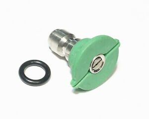 Pressure Washer Quick Connect Tip Nozzle Size 5 Gpm Green 25 Degree Spray Angle