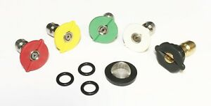 Pressure Washer Quick Connect Tip Nozzle Spray Kit Size 6 Gpm W Filter Orings
