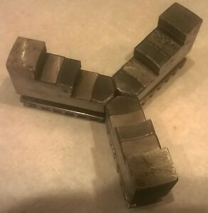 Vintage Union Mfg Metal Lathe 3 Jaw Chuck Jaw Set 151a For Small Lathe