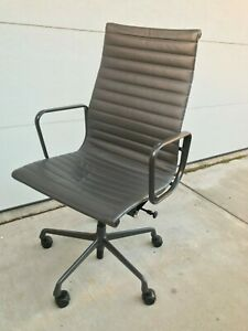 Eames Herman Miller High Back Leather Executive Office Chair