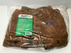 Prostar Welding Leather Split Cape Sleeve Sz 2x Dark Brown Cowhide Heat Resist