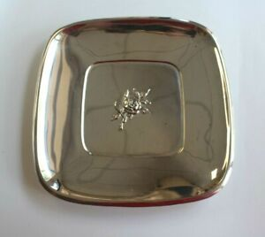 Reed Barton 925 Sterling Silver Classic Rose Square Plate 9 Inch 275 Grams