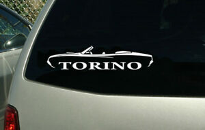 Ford Torino Convertible 1970 1971 Decal Sticker Muscle Car