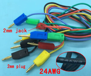 2mm Gold Banana Plug To 2mm Plug Cable For Test Leads Probes Instrument Meter