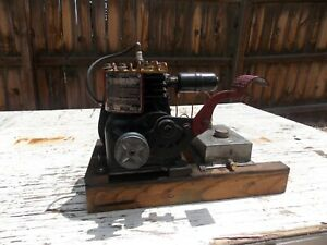 Antique Briggs Stratton Type 95475 Model Wmb Kick Start Engine Excellent Runs