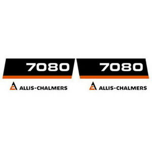New 7080 Allis Chalmers Tractor Hood Decal Set High Quality Hood Decal Kit