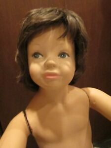 Vintage Wood Composite Child Store Mannequin 38 High Vgc