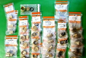 Lot Of 30 New Zurn Fittings Adapters Caps Couplings Pex Solder Threaded 3 4 1