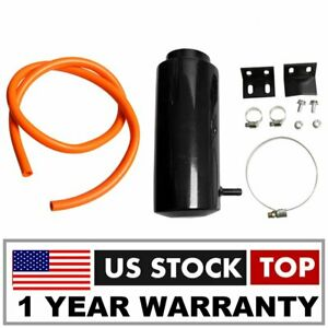 Universal Radiator Coolant Aluminum Catch Tank Overflow Reservoir Black New Us