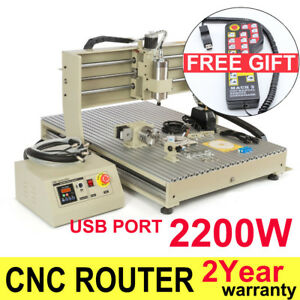 Usb 4axis 2 2kw Cnc 6090 Router Engraver Machine Engraving Desktop Milling rc