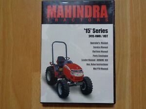 Mahindra 2415 4wd Hst Tractor Service Operators Parts Manual Cd Oem