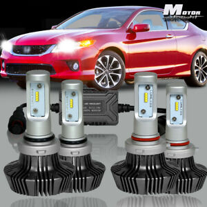 9005 9006 Hi Low Beam Led Headlight Kit For Honda Accord 90 2012 Civic 2004 2015