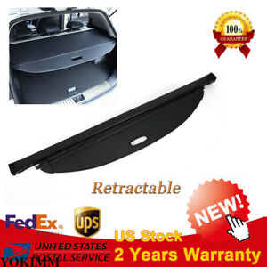 For 2016 2018 Hyundai Santa Fe Sport Rear Trunk Cargo Luggage Shade Cover Black