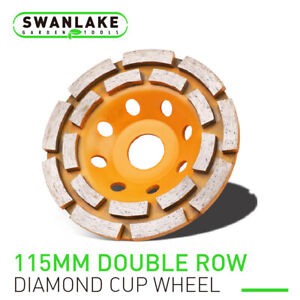 4 5 Diamond Grinding Cup Wheel Double Row Concrete Angle Grinder 18 Segments