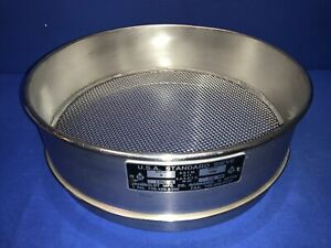 Humboldt No 8 Usa Standard Testing Sieve Stainless Steel 12 dia X 3 1 4 deep