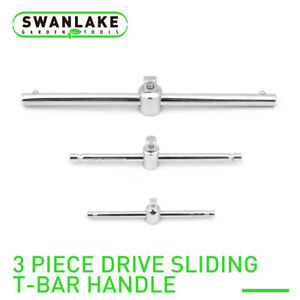 Socket Breaker Bar Wrench Drive Sliding T Handle 1 2 3 8 1 4 Steel Heavy Duty