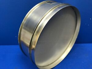Humboldt No 80 Usa Standard Testing Sieve Stainless Steel 12 dia X 3 1 4 deep