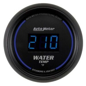 Auto Meter 6937 Cobalt Digital Water Temperature Gauge 2 1 16 Inch