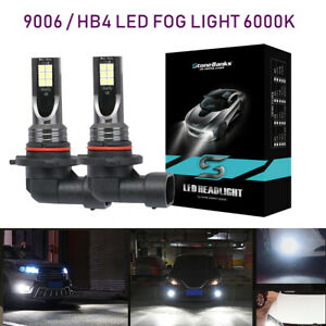 9006 Hb4 Led Fog Lights Bulbs Conversion Kit 60w 6000lm 6000k White Driving Car