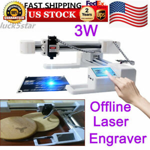 Laser Engraving Machine Diy Kit Carving Cutting 3000mw Desktop Printer Wood Tool