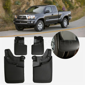 For 2016 2018 Toyota Tacoma Front Rear Splash Guards Mud Flaps All Trim Types